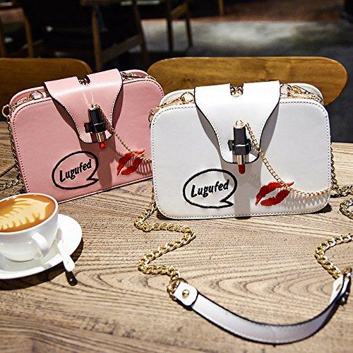 Chain WenL à Square Elégant Totes Sacs Paquet Bag Petit Main Baguettes Nouveaux Messenger Pink Pochette aPPrYn