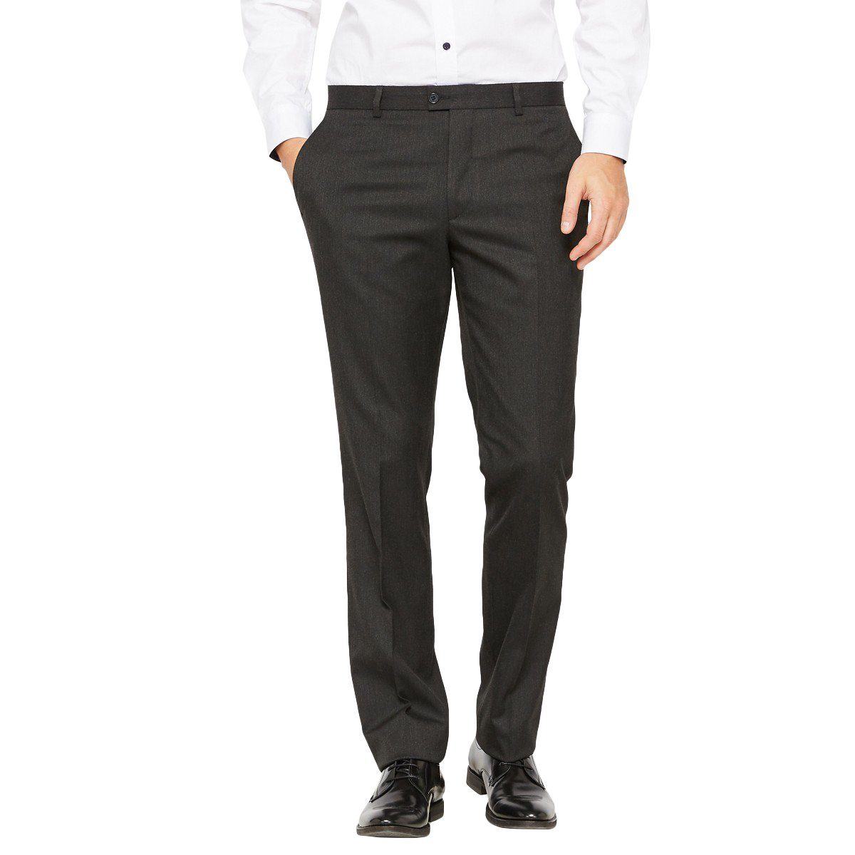 Length 33.5 La Redoute Collections Mens Fitted Suit Trousers