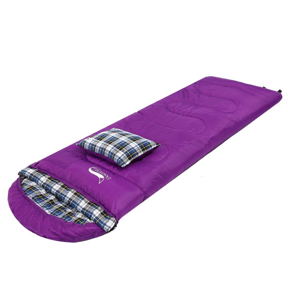 アウトドアSleepingバッグ/大人用寝袋/キャンプThickening CanはスプライスダブルSleepingバッグ B072B8YSSP  パープル