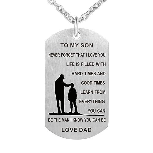 Amazon.com: Love a mi hijo de de regalo Dad nunca olvidar ...