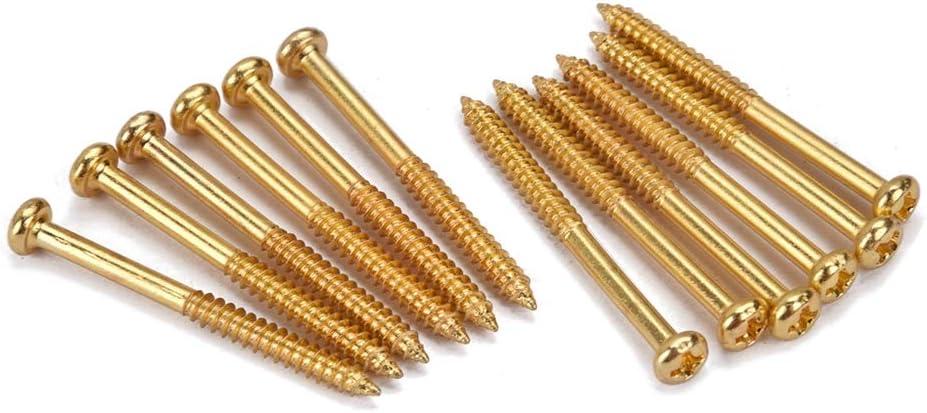 supvox Tornillos de montaje para pastilla para bajo 12/piezas Accesorio para herramienta para Pickup PB JB P90/ dorado