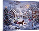 Nicky Boehme Premium Thick-Wrap Canvas Wall Art Print entitled Merry Christmas