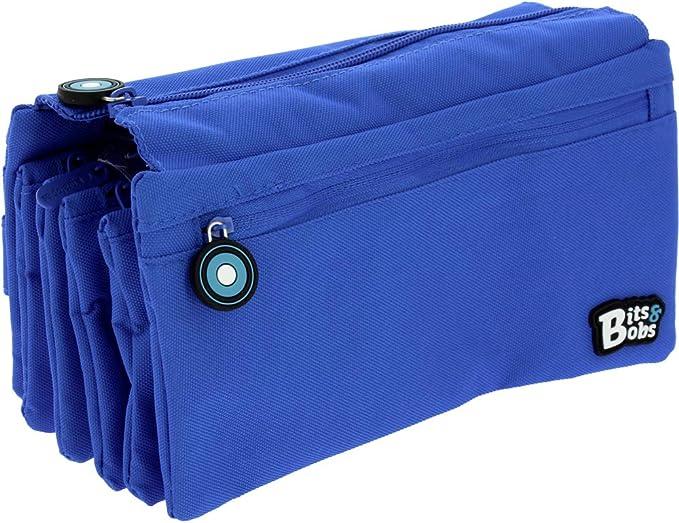 Grafoplás - 37543330. Estuche Portatodo Cuádruple Azul. Línea bits & Bobs. 23x12cm: Amazon.es: Equipaje