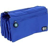Grafoplás - 37543330. Estuche Portatodo Cuádruple Azul. Línea bits & Bobs. 23x12cm