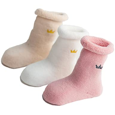 Amazon Com Zaples Unisex Baby Socks 3 Pack Soft Cotton Warm Winter