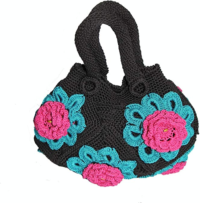 Toddler bag Crochet Handbag Knitted baby OrganicNatural Gift for babies Drawstring Bucket Hand bag Kids Pink Peach BasketPocket Purse