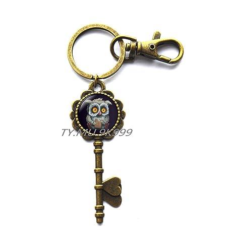 Amazon.com: Clave collar de búho llavero joyas, regalos de ...