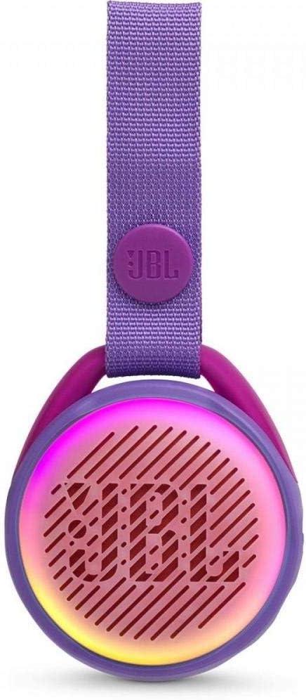 JBL JR POP - Altavoz inalámbrico portátil con Bluetooth óptimo para niños, 5 h de tiempo de juego, resistente al agua, morado
