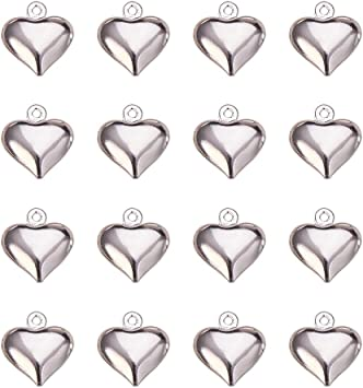 100pcs Tibetan Style Pendants Heart Charms Jewellery Findings 8x7x2.5mm