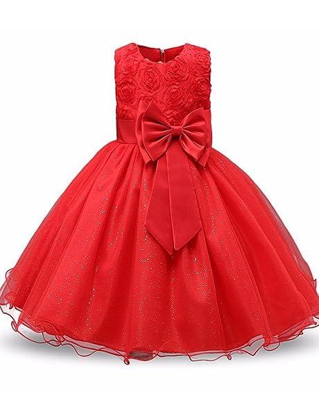 Amazon.com: Mallimoda - Vestido de princesa con encaje de ...