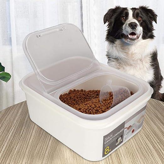 Bicaquu Caja de Almacenamiento de Alimentos para Gatos a Prueba de Agua, Organizador de Alimentos para Mascotas Caja de Almacenamiento de Alimentos Contenedor de Alimentos para Perros,(Small): Amazon.es: Productos para mascotas