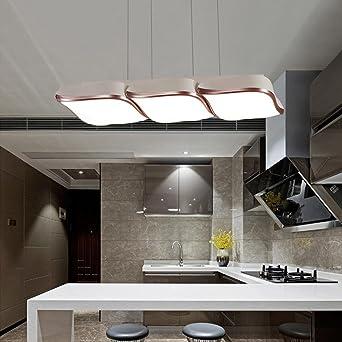 colgante de la cortina de lámpara de acrílico mesa de comedor cuadrada LED lámpara colgante moderna
