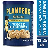 #9: Planters Deluxe Whole Cashews, Lightly Salted, 1 lb 2.25 Ounce Canister