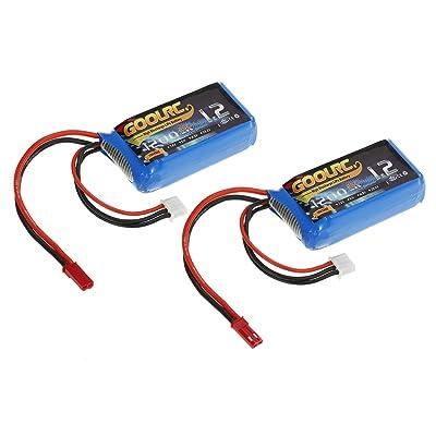 GoolRC 2pcs GoolRC 7.4V 1200mAh 25C JST Plug LiPo Battery for WLtoys A949 A959 A969 A979 K929 RC Car V353 Quadcopter: Home Audio & Theater