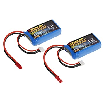 2pcs GoolRC 7.4V 1200mAh 25C JST Plug LiPo batería para WLtoys A949 A959 A979 A979 K929 RC coche V353 Quadcopter