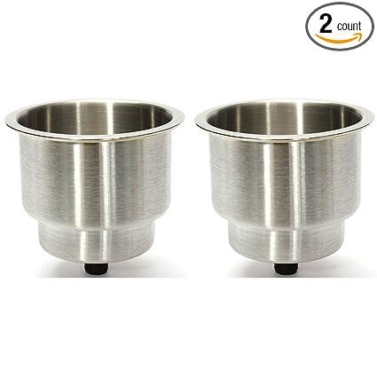 Amazon.com: 2pcs Barco Cup Bebida Titular cepillado Acero ...