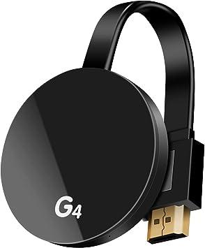 KUPVALON Adaptador inalámbrico de Pantalla WiFi Dongle 1080P HDMI Medios para Compartir Video de 2.4GHz Dongle Receptor Miracast DLNA Airplay para iOS/Android/Mac/Window/TV/Monitor/Proyector/Netflix: Amazon.es: Electrónica
