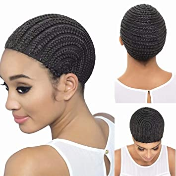 Hair Extensions & Wigs Wig Cap For Making Wigs With Adjustable Strap On The Back Weaving Cap Size Glueless Wig Caps Good Quality Hair Net Black African Jade White