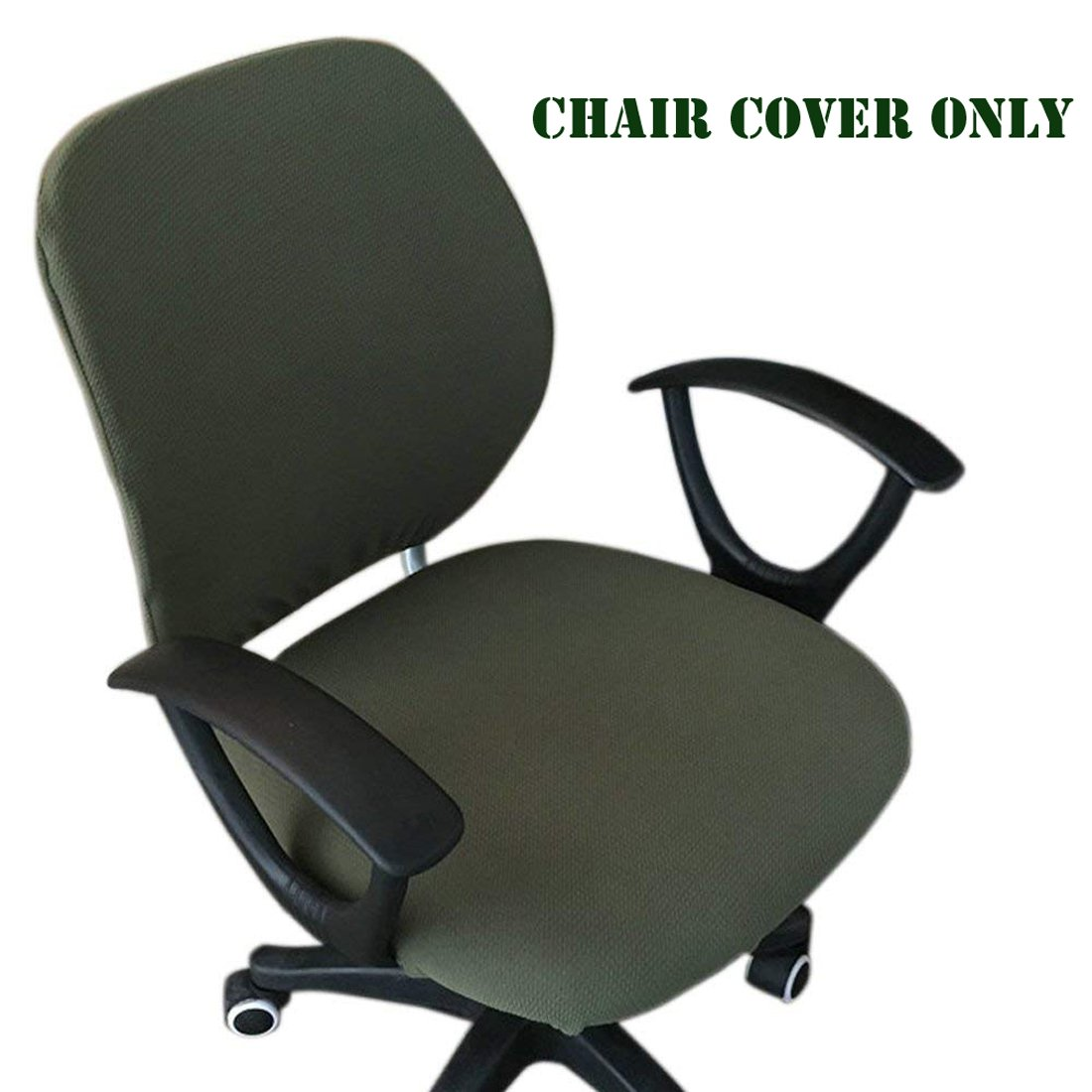 Army Green Frifer Office Chair Cover Removable Resilient Chair Covers Separate Chair Cover for Office Rotating Chair,Computer Chair,Swivel Chair Armrest Chair