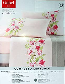 GABEL COMPLETO LENZUOLA MATRIMONIALE MISURE MAXI 270x285 CELINE ...