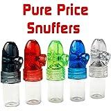 Snuff Bullet Box Dispenser Snuffer New Acrylic Glass Snorter Rocket (5) by LSL