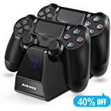 PS4 Controller Charger Ankway Dual Fast Charging Docking Station Stand With LED Charging Indicator PS4 Accessories for Playstation 4/PS4 Pro/PS4 Slim Controller
