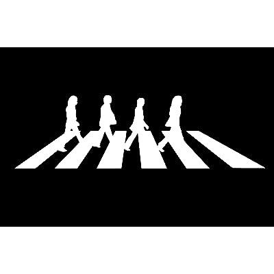 "The Beatles - Abbey Road - Car, Truck, Notebook, Vinyl Decal Sticker, 6"" Wide: Automotive"