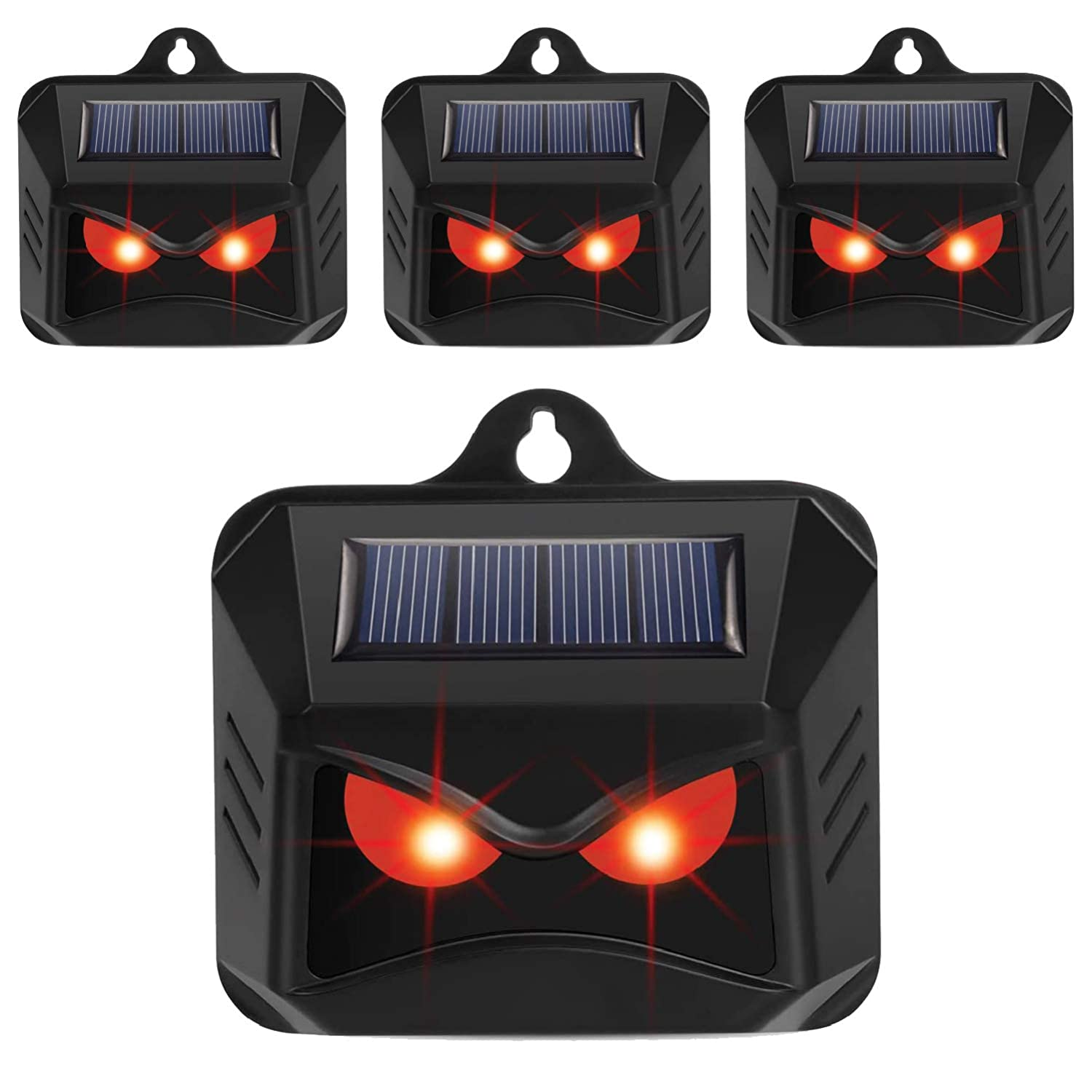 KEXMY 4 Pack Solar Powered Animal Repellent Predator Repellent