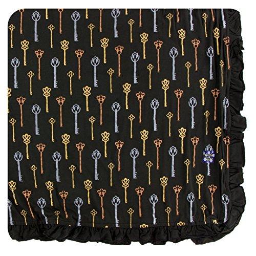 Kickee Pants Print Ruffle Toddler Blanket - Victorian Keys