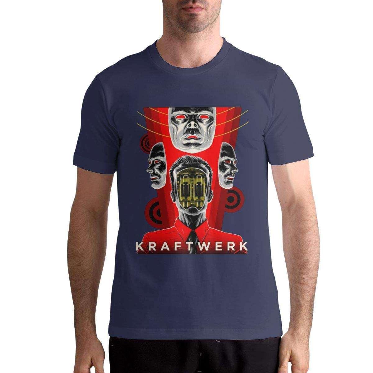 ThomasSThoms Men/â/€/™s Kraftwerk Graphic Printing T Shirt for Summer Casual Short Sleeve T-Shirt