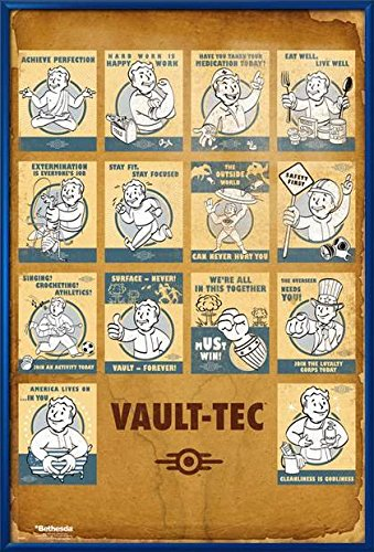 Fallout 4 - Framed Gaming Poster / Print