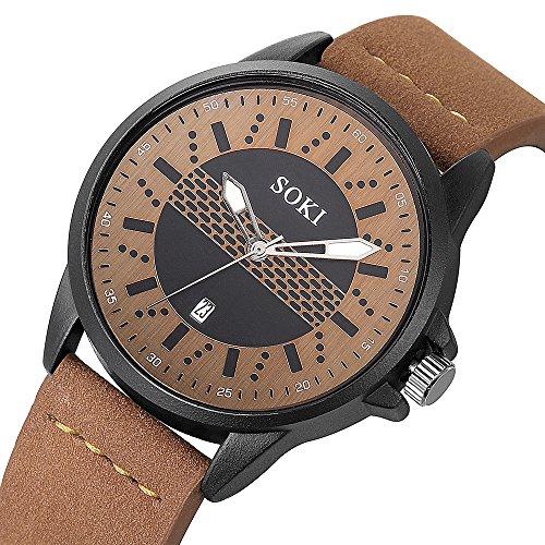 Couple Fashion Mens Analog Quartz Wrist Watch Classic Casual Watch with Nylon strap Round Wrist Watch Watches ()