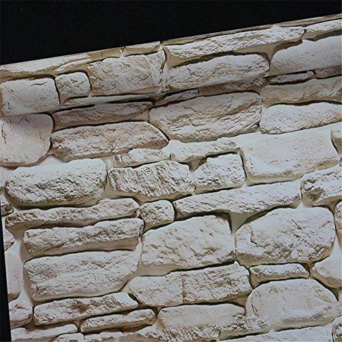 Haotfire Modern Faux Brick Stone Textured Wallpaper Multi Brick Blocks Home Room Decoration (Hanging Textured Wallpaper)