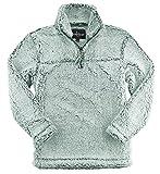 boxercraft Adult Super Soft 1/4 Zip Sherpa Pullover, Frosty Hunter, 3XL