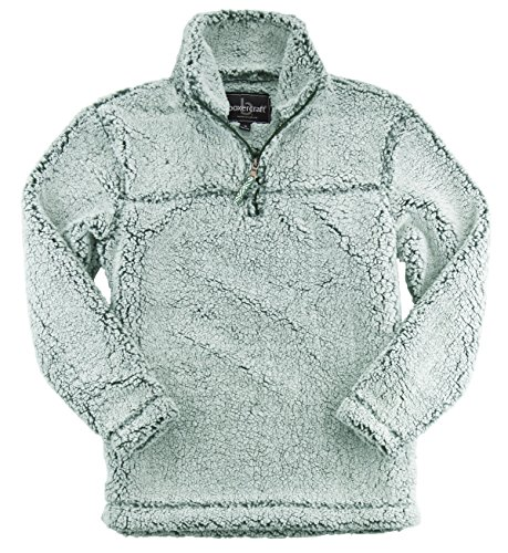 boxercraft Adult Super Soft 1/4 Zip Sherpa Pullover, Frosty Hunter, 3XL by boxercraft