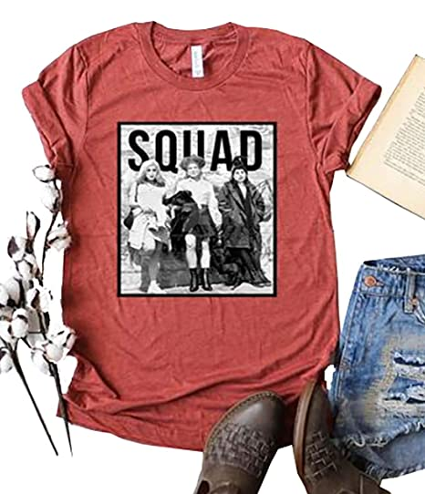 581b865e905 FENKAY Squad Goals Short Sleeve Tees Womens Funny Halloween Hocus Pocus  Graphic Tops T-Shirt