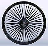 Black/Black 48 King Spoke 21Ó x 2.15Ó Single Disc Front Wheel / Harley & Custom