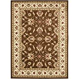Safavieh Lyndhurst Collection LNH553-2512 Traditional Floral Brown and Ivory Area Rug (8′ x 11′) For Sale