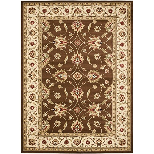 Safavieh Lyndhurst Collection LNH553-2512 Traditional Floral Brown and Ivory Area Rug (8'9
