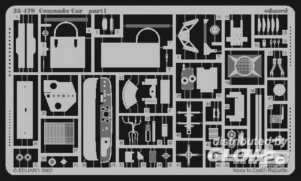 Eduard Accessories 35479/Mod/élisme Accessoires COMANDO Car pour Italeri Kit 0320