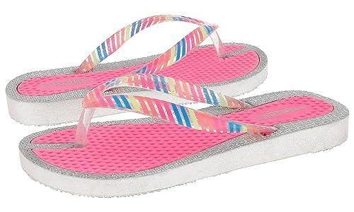 07d11067f9 Amazon.com   Capelli New York Rainbow Print Girls Flip Flops Pink ...