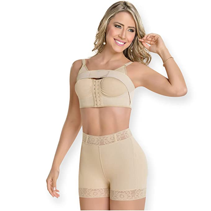 a8cc6109a1e89 Fajas MyD 0311 Women High Waist Shaper Shorts Compression Butt Lifter  Shapewear  Amazon.ca  Clothing   Accessories