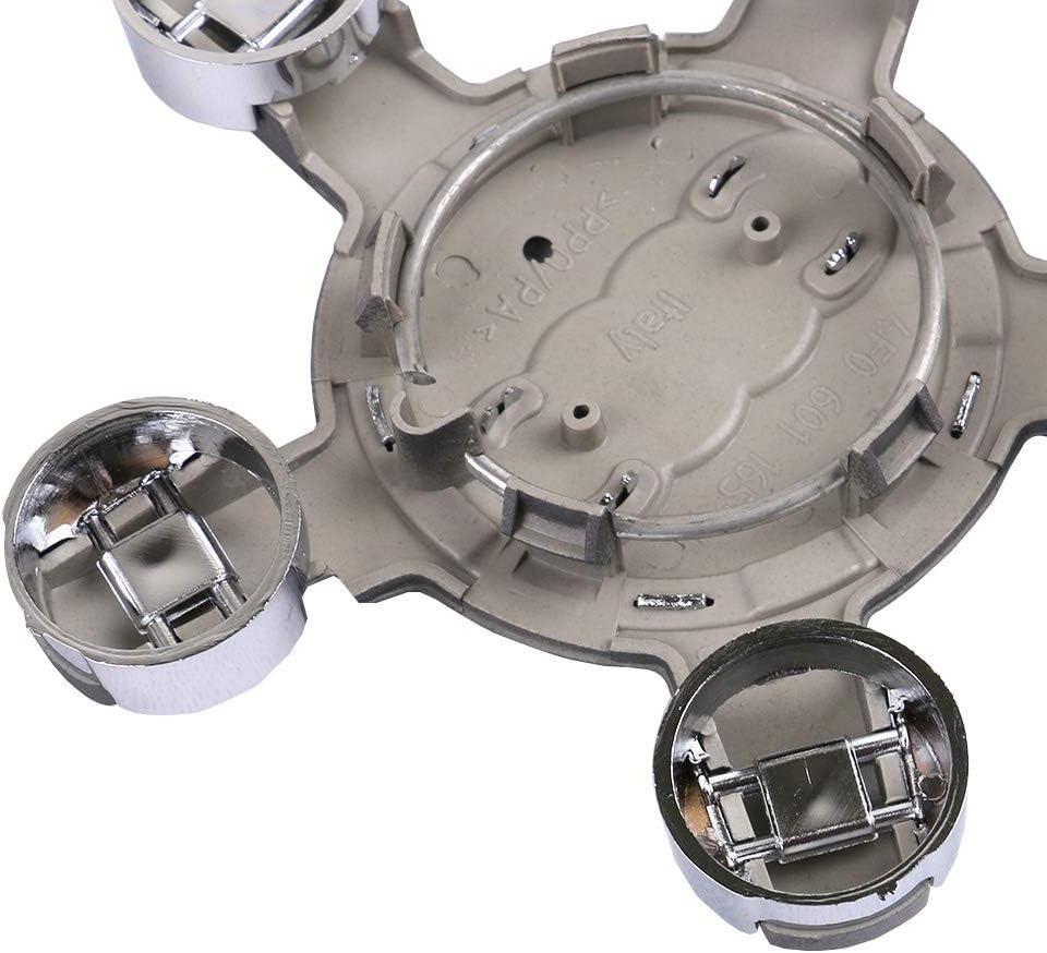 4 UPSM Silver Hub Caps Rim Cover Center Cap 4X 135mm 4F0601165N7ZJ 4F0601165N
