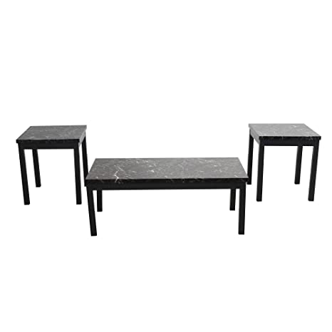 Peachy Amazon Com Modern Style Faux Marble Coffee Table And End Caraccident5 Cool Chair Designs And Ideas Caraccident5Info