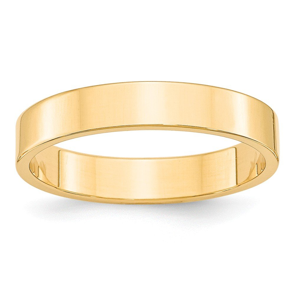 Jewelry Best Seller 14KY 4mm LTW Flat Band Size 4.5
