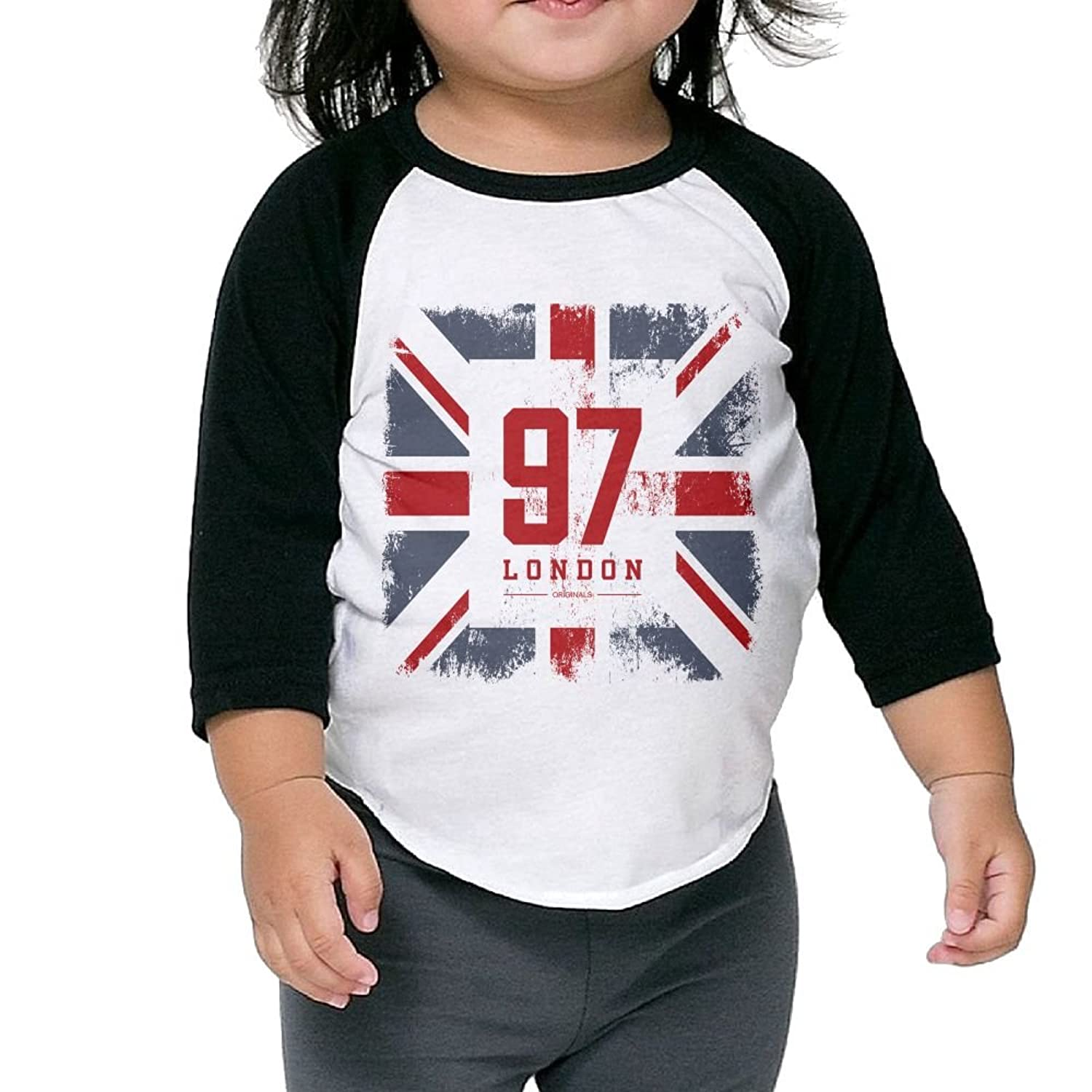 New CHENLY Unisex Kid's Sleeves Warm 97 London Cotton 3/4 Sleeves T-Shirt For children for cheap