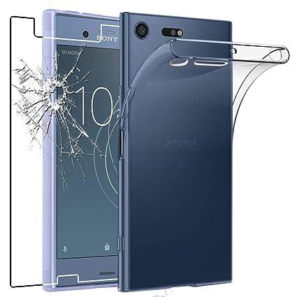 ebestStar - Compatible Funda Sony Xperia XZ1 Compact Carcasa Silicona, Protección Claro Ultra Slim, Transparente + Cristal Templado [NB: Leer ...