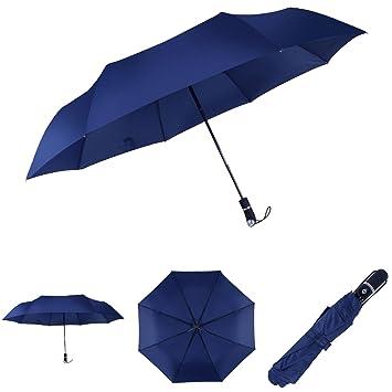 """Auto Abrir y cerrar paraguas paraguas de viaje plegable compacto de """" irrompible para hombres"""