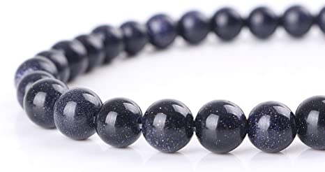 Fashion Imperial Jasper Spacer Bead 6mm Black Lave Stone Bracelet Gift Jewelry