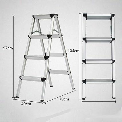 N/A Escalera Plegable para el Hogar: Escalera de Cuatro O Cinco Escalones, Escalera de Doble Cara de Aluminio Grueso, Taburete de Tiro, Escalera Pequeña, Taburete de Caballo,Negro,D: Amazon.es: Deportes y aire libre